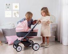 Vozički za dojenčke - Voziček 3v1 Powder Pink 3in1 Maxi Cosi&Quinny Smoby globoki in športni ter prenosljiva posteljica za 42 cm dojenčka_1