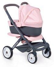 Vozički za dojenčke - Voziček 3v1 Powder Pink 3in1 Maxi Cosi&Quinny Smoby globoki in športni ter prenosljiva posteljica za 42 cm dojenčka_2
