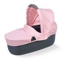 Vozički za dojenčke - Voziček 3v1 Powder Pink 3in1 Maxi Cosi&Quinny Smoby globoki in športni ter prenosljiva posteljica za 42 cm dojenčka_3