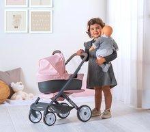 Vozički za dojenčke - Voziček 3v1 Powder Pink 3in1 Maxi Cosi&Quinny Smoby globoki in športni ter prenosljiva posteljica za 42 cm dojenčka_5