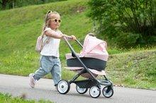 Vozički za dojenčke - Voziček 3v1 Powder Pink 3in1 Maxi Cosi&Quinny Smoby globoki in športni ter prenosljiva posteljica za 42 cm dojenčka_6