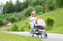 Vozički za dojenčke - Voziček 3v1 Powder Pink 3in1 Maxi Cosi&Quinny Smoby globoki in športni ter prenosljiva posteljica za 42 cm dojenčka_7