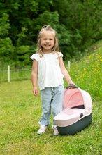 Vozički za dojenčke - Voziček 3v1 Powder Pink 3in1 Maxi Cosi&Quinny Smoby globoki in športni ter prenosljiva posteljica za 42 cm dojenčka_9