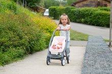Vozički za dojenčke - Voziček 3v1 Powder Pink 3in1 Maxi Cosi&Quinny Smoby globoki in športni ter prenosljiva posteljica za 42 cm dojenčka_10