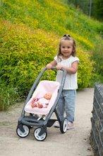 Vozički za dojenčke - Voziček 3v1 Powder Pink 3in1 Maxi Cosi&Quinny Smoby globoki in športni ter prenosljiva posteljica za 42 cm dojenčka_11