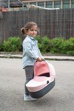 Vozički za dojenčke - Voziček 3v1 Powder Pink 3in1 Maxi Cosi&Quinny Smoby globoki in športni ter prenosljiva posteljica za 42 cm dojenčka_12