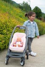 Vozički za dojenčke - Voziček 3v1 Powder Pink 3in1 Maxi Cosi&Quinny Smoby globoki in športni ter prenosljiva posteljica za 42 cm dojenčka_13