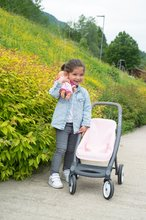 Vozički za dojenčke - Voziček 3v1 Powder Pink 3in1 Maxi Cosi&Quinny Smoby globoki in športni ter prenosljiva posteljica za 42 cm dojenčka_14