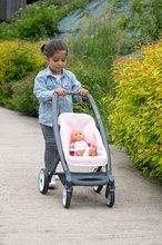 Vozički za dojenčke - Voziček 3v1 Powder Pink 3in1 Maxi Cosi&Quinny Smoby globoki in športni ter prenosljiva posteljica za 42 cm dojenčka_16