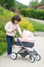 Vozički za dojenčke - Voziček 3v1 Powder Pink 3in1 Maxi Cosi&Quinny Smoby globoki in športni ter prenosljiva posteljica za 42 cm dojenčka_17