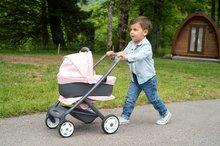 Vozički za dojenčke - Voziček 3v1 Powder Pink 3in1 Maxi Cosi&Quinny Smoby globoki in športni ter prenosljiva posteljica za 42 cm dojenčka_18