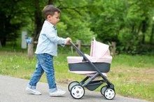 Vozički za dojenčke - Voziček 3v1 Powder Pink 3in1 Maxi Cosi&Quinny Smoby globoki in športni ter prenosljiva posteljica za 42 cm dojenčka_20