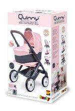 Vozički za dojenčke - Voziček 3v1 Powder Pink 3in1 Maxi Cosi&Quinny Smoby globoki in športni ter prenosljiva posteljica za 42 cm dojenčka_24