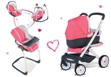 Komplet voziček Trio Pastel Maxi Cosi & Quinny Smoby 3v1 z nosilko za dojenčka in stolček, avtosedež in gugalnik