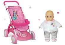 Szett sport babakocsi játékbabának Hercegnők Disney Smoby játékbaba Ajándékba