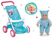 Set cărucior sport pentru păpuşă Frozen Smoby cu păpuşă Minikiss cu sunet de pupic de la 18 luni