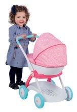 Kolica od 18 mjeseci - Duboka kolica Pastel Princeze Disney Smoby ružičasta za lutku od 42 cm (visina rukohvata 58 cm) od 18 mjeseci_1