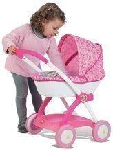 Hlboký kočík pre 42 cm bábiku Princezné Disney Smoby ružový výška rúčky 58 cm od 18 mesiacov 38*58*57 cm SM254111