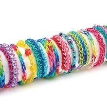 Rainbow Loom gumičky dvojfarebné - Rainbow Loom originálne gumičky stredoveké 600 kusov ružové od 6 rokov_0