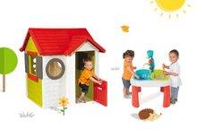 Smoby 810400-3 set domček My House s elektronickým zvončekom a detský stôl Voda&Piesok od 2 rokov