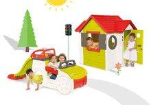 Smoby 810400-8 set domček My House so zvončekom, preliezačka Adventure Car so šmykľavkou a automatický semafor od 2 rokov