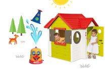 Smoby 810400-11 set domček My House s elektronickým zvončekom a striekací vodný klaun od 2 rokov