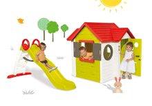 Smoby 810400-2 készlet házikó My House elektronikus csengővel és csúszda Toboggan Funny 2 éves kortól