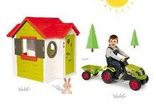 Smoby 810400-14 set domček My House s elektronickým zvončekom a traktor Claas GM s prívesom od 2 rokov