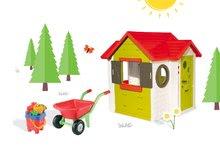 Smoby 810400-1 set domček My House s elektronickým zvončekom a fúrik s vedro setom od 2 rokov