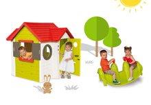 Smoby 810400-6 set domček My House s elektronickým zvončekom a obojstranná hojdačka Tuleň s vodotryskom od 2 rokov