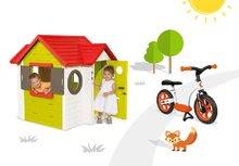 Smoby 810400-4 set domček My House s elektronickým zvončekom a balančné odrážadlo Learning Bike od 2 rokov