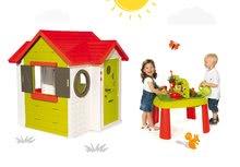 Smoby 810400-10 set domček My House s elektronickým zvončekom a stôl Záhradník De Jardinage od 2 rokov
