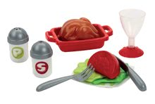 Riadíky a doplnky kuchynky - Súprava na obed 100% Chef Écoiffier so šalátom s 32 doplnkami od 18 mes_4