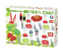 Riadíky a doplnky kuchynky - Súprava na obed 100% Chef Écoiffier so šalátom s 32 doplnkami od 18 mes_5