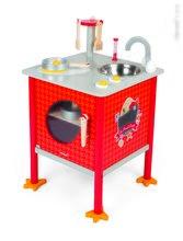 Drevená magnetická kuchynka Francúzsky Kohútik Cooker Janod s 8 doplnkami