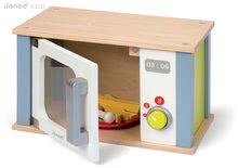 Drevené kuchynky - Drevená mikrovlnka Picnik Microwave Janod s 9 doplnkami_2
