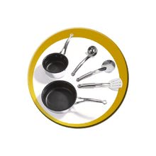 Produse vechi - Bucătărie electronică French Touch Tefal Excellence Smoby bordou-galben cu apă curgătoare_2