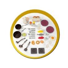 Produse vechi - Bucătărie electronică French Touch Tefal Excellence Smoby bordou-galben cu apă curgătoare_1