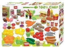 Riadíky a doplnky kuchynky - Sada potravín do kuchynky 100% Chef Écoiffier 100 kusov od 18 mes_0