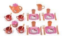 Čajová sada Hello Kitty Écoiffier veľká s 33 doplnkami ružovo-oranžová od 18 mes