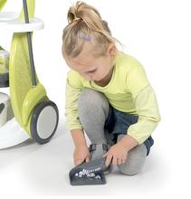 Hry na domácnosť - Set upratovací vozík Clean Service Smoby a žehliaca doska s elektronickou žehličkou Clean_7
