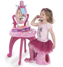 Kozmetické stolíky sety - Set kozmetický stolík Disney Princezné 2v1 Smoby so stoličkou a servírovací vozík s raňajkovou súpravou_1