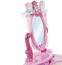 Kozmetické stolíky sety - Set kozmetický stolík Disney Princezné 2v1 Smoby so stoličkou a servírovací vozík s raňajkovou súpravou_2