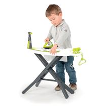 Hry na domácnosť - Set upratovací vozík Clean Service Smoby a žehliaca doska s elektronickou žehličkou Clean_6
