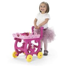 Kozmetické stolíky sety - Set kozmetický stolík Disney Princezné 2v1 Smoby so stoličkou a servírovací vozík s raňajkovou súpravou_5