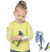 Hry na domácnosť - Set upratovací vozík Clean Service Smoby a žehliaca doska s elektronickou žehličkou Clean_9