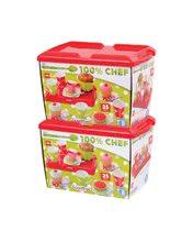 Kuchynky pre deti sety - Set kuchynka CookMaster Verte Smoby s ľadom a zvukmi a čajová súprava s táckou_7