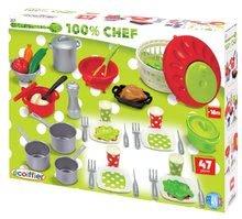 Riadíky a doplnky kuchynky - Súprava na obed 100 % Chef Écoiffier so 47 doplnkami od 18 mes_4
