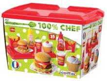 Kuchynky pre deti sety - Set kuchynka Tefal Studio XL Smoby so zvukmi a chladničkou a set hamburgerov 100% Chef_7