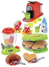 Hry na domácnosť - Set upratovací vozík s elektronickým vysávačom Vacuum Cleaner Smoby a vaflovač s mixérom kávovarom a hriankovač s vajíčkami_10